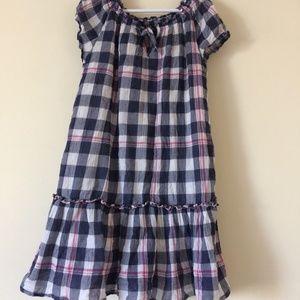 Girls Rehab plaid dress-PLAY